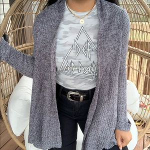 Derek Heart Boho Gray Sweater Cardigan SZ L